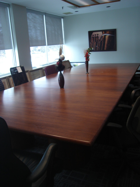 RA Solid Oak Top Conference Table Table Is Adjustable Ft Or - 12 ft conference table